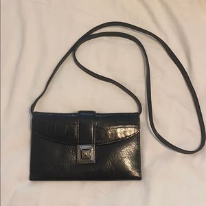 Black leather Brighton cross body bag!